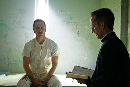 Michael Fassbender in Assassins Creed filming